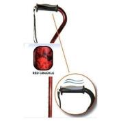 Drive Medical 10372BK-1 Adjustable Height Offset Handle Cane with Comfortable Gel Hand Grip- Black