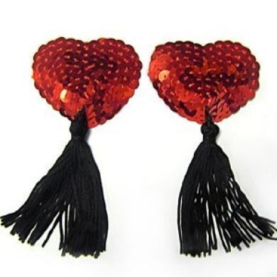 Nipple Tassles - Red Sequins