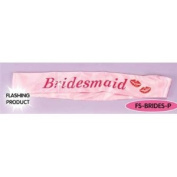 Novelty Flashing Sash Bridesmaid Pink for Hen Stag Party Night