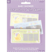 BABY SHOWER PARTY SCRATCH GAME CARDS FOR 12 GUESTS