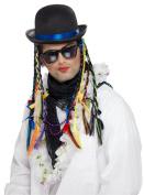 Boy George Chameleon Bowler Hat with Plaits