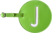 Leather Initial 'J' Luggage Tags Set of 2