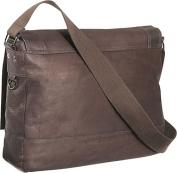 """Busi-Mess Essentials"" Columbian Leather Messenger Bag"