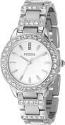 Fossil Ladies 3-Hand Stainless Steel Glitz Watch