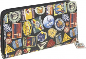 Vintage Hotel-Zip Around Travel Wallet and Camera Case/Wristlet