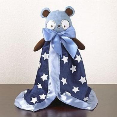 CoCaLo Plush Security Blanket - Blue Bear
