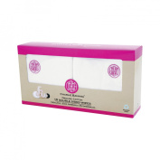 Charlie Banana Double Sided Organic Cotton/Fleece Wipes 10-Ct - Pink