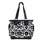 Fleurville Lexie Tote - Black Bouquet