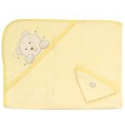 Gerber Bath Hooded Towel and Washcloth Set - Neutral