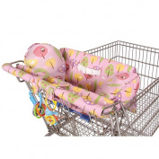 Leachco Prop 'R Shopper Body Fit Shopping Cart Cover - Pink Forest Frolics