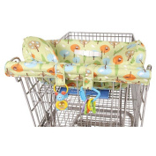 Leachco Prop 'R Shopper Body Fit Shopping Cart Cover - Green Forest Frolics