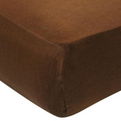 Carter's Easy Fit Sateen Crib Sheet - Chocolate