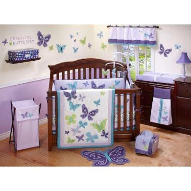 NoJo Beautiful Butterfly Crib Sheet