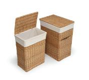 Badger Basket Natural Two Hamper Set with Liners