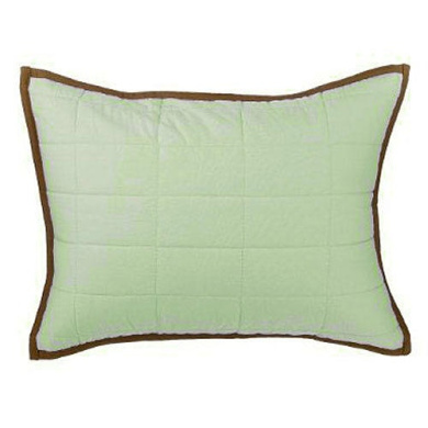 Bacati Metro Lime, White & Chocolate Quilted Boudoir Pillow