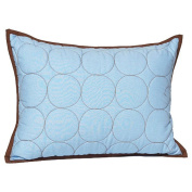 Bacati Quilted Circles Blue & Chocolate Boudoir