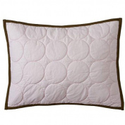Bacati Quilted Circles Pink & Chocolate Boudoir Pillow