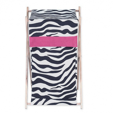 JoJo Designs Funky Zebra Collection Laundry Hamper