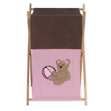 JoJo Designs Pink Teddy Bear Collection Laundry Hamper