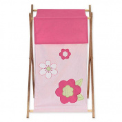 JoJo Designs Pink and Green Flower Collection Laundry Hamper