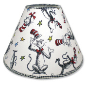 Trend Lab 30044 Dr. Seuss Cat In The Hat Lampshade- Cat In The Hat Scatterprint Percale With Black Percale Trim
