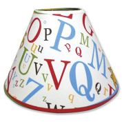 Trend Lab 30022 Dr. Seuss Abc Lampshade- Abc Scatterprint Percale With Brown Percale Trim