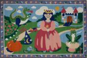 LA Rug OLK-004 3958 Olive Kids Collection - Happily Ever After Rug - 99.1cm x 147.3cm