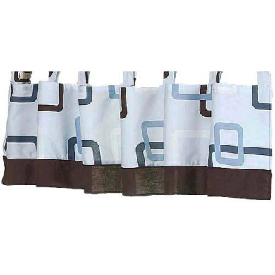 JoJo Designs Blue and Brown Geo Collection Window Valance