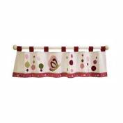 Raspberry Swirl Window Valance