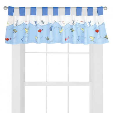 Trend Lab Dr. Seuss One Fish Two Fish Tab Top Window Valance