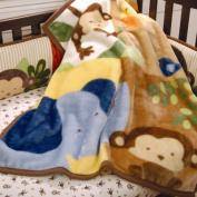 Kids Line Jungle 1-2-3 High Pile Blanket