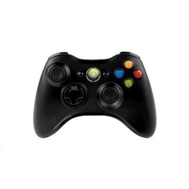 Microsoft Wireless Xbox Controller Black for Xbox 360 &gaming on Windows PC come with a USB dongle