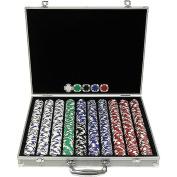 1000 11.5g Hold'em Poker Chip Set with Aluminium Case