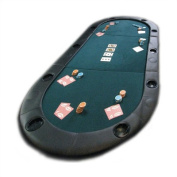 Texas Hold'em Folding Tabletop with Cupholders