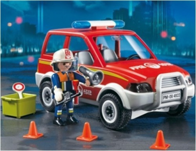 Playmobil 4822 Fire Chief and Car