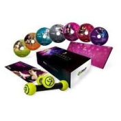 NEW!!Zumba Fitness Exhilarate 7 DVDs with Tonning Stick