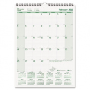 EcoLogix Monthly Wall Calendar, 12 x 17, 2012
