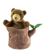 Bear In Tree Stump Hand Puppet by Folkmanis - 2904