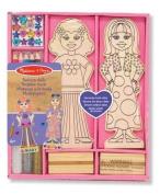 Melissa & Doug Wooden Fashion Dolls