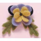 Felting Needle Applique Mould-Pansy