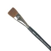 Winsor & Newton Artists Kolinsky Sable Artist Water Colour Brush Round, Birch Wood, transparent, Ein-Strich Flachpinsel 12,9 mm 3/4 zoll - kurzer Stiel