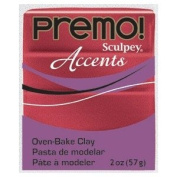 Sculpey Premo Accent Polymer Red Glitter Coloured Modelling Clay 57g