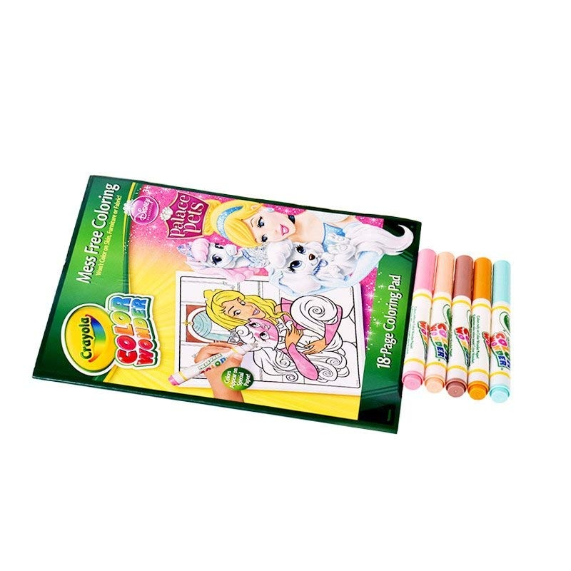 Crayola Mess Free Color Wonder Disney Princess Markers /& Coloring ...