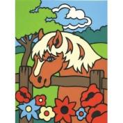 Mini Paint By Number Kit 11cm x 18cm -Pony