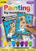 """My First Paint By Number Kit 8-3/4""""X11-3/8"""" 2/Pkg-Kitten & Puppy"""