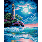 Paint By Number Kit 41cm x 50cm -Lighthouse In The Moonlight