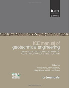 ICE Manual of Geotechnical Engineering