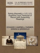 Rahrig (Kenneth) V. U.S. U.S. Supreme Court Transcript of Record with Supporting Pleadings