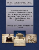 Associated General Contractors of Massachusetts, Inc. V. Altshuler (Alan) U.S. Supreme Court Transcript of Record with Supporting Pleadings