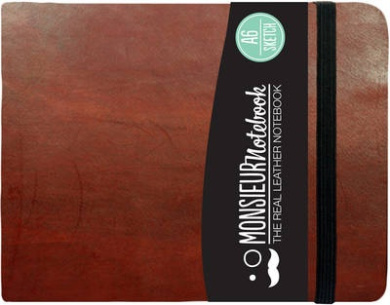 Monsieur Notebook - Real Leather Landscape A6 Brown Sketch